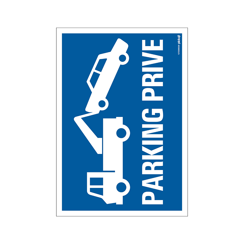 Panneau 23x33cm Combi - Parking prive