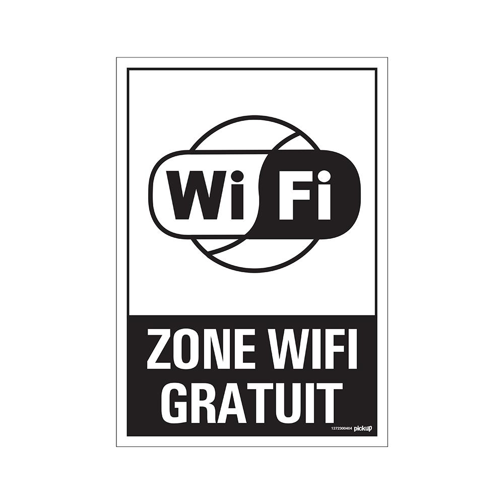Panneau 23x33cm Combi - Zone WiFi gratuit