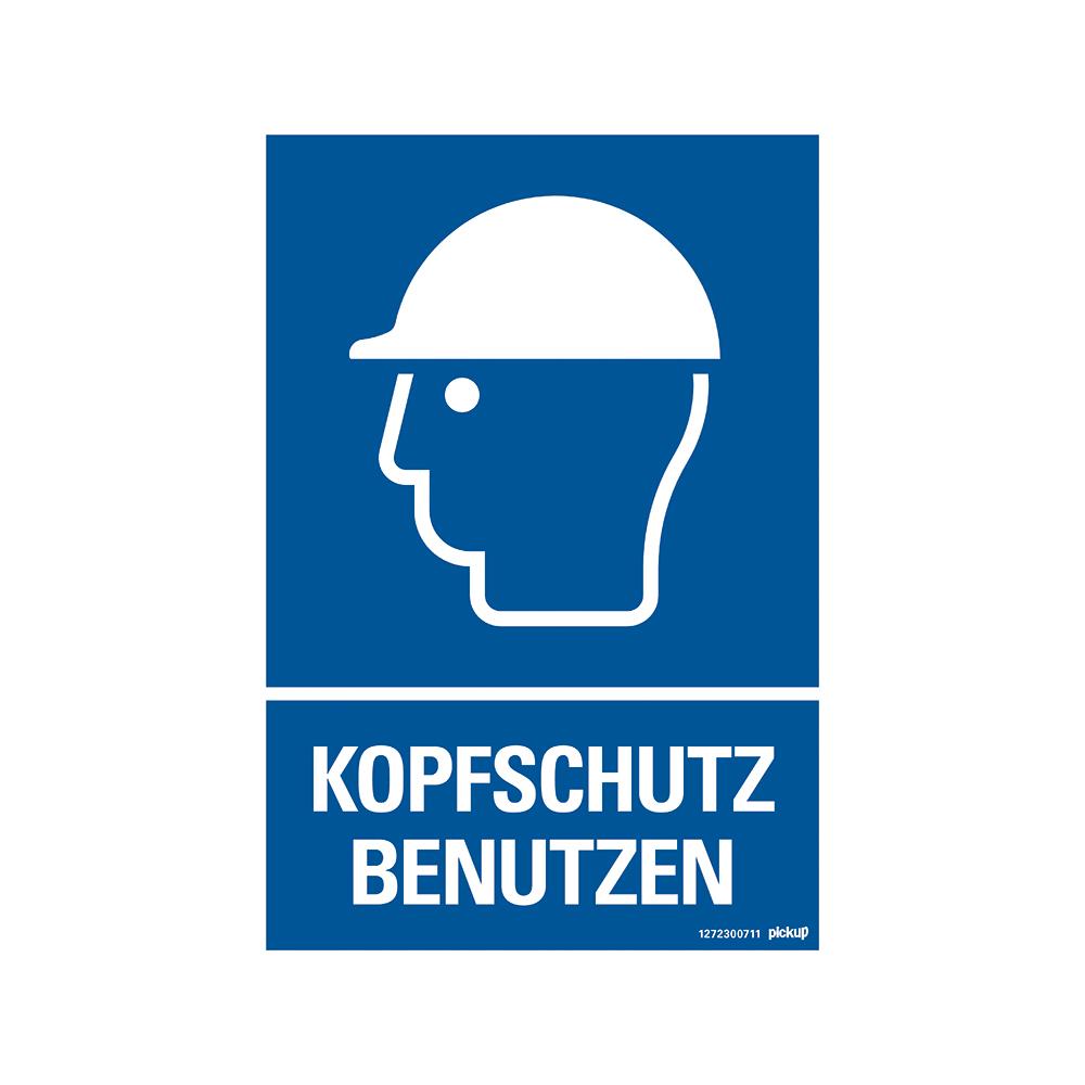 Kunststoff Schild 33 x 23 cm KOPFSCHUTZ BENUTZEN