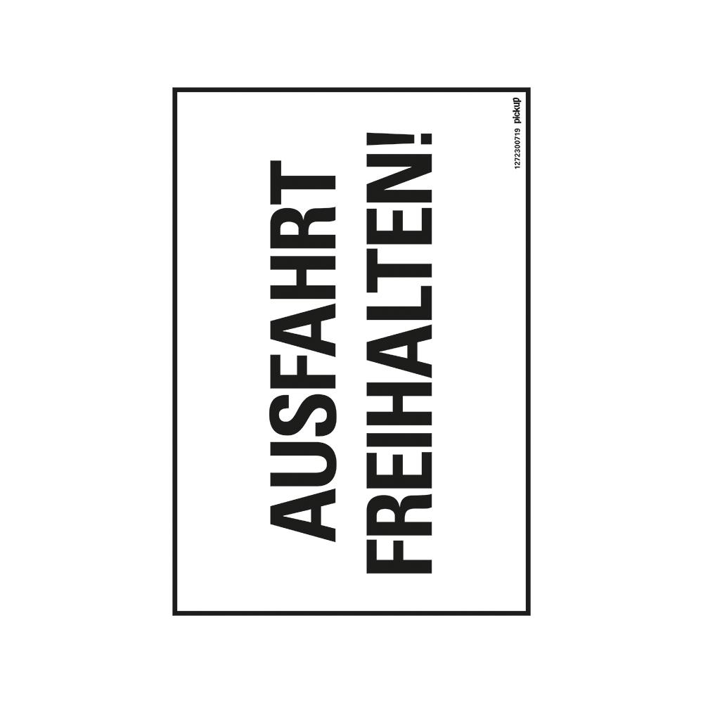 Kunststoff Schild 33 x 23 cm AUSFAHRT FREIHALTEN