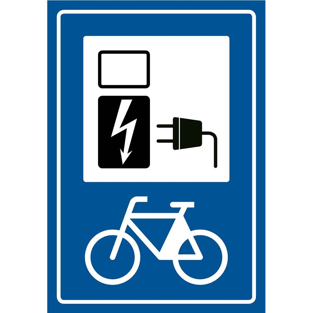 Pickup bord E-bike oplaadpunt zonder tekst