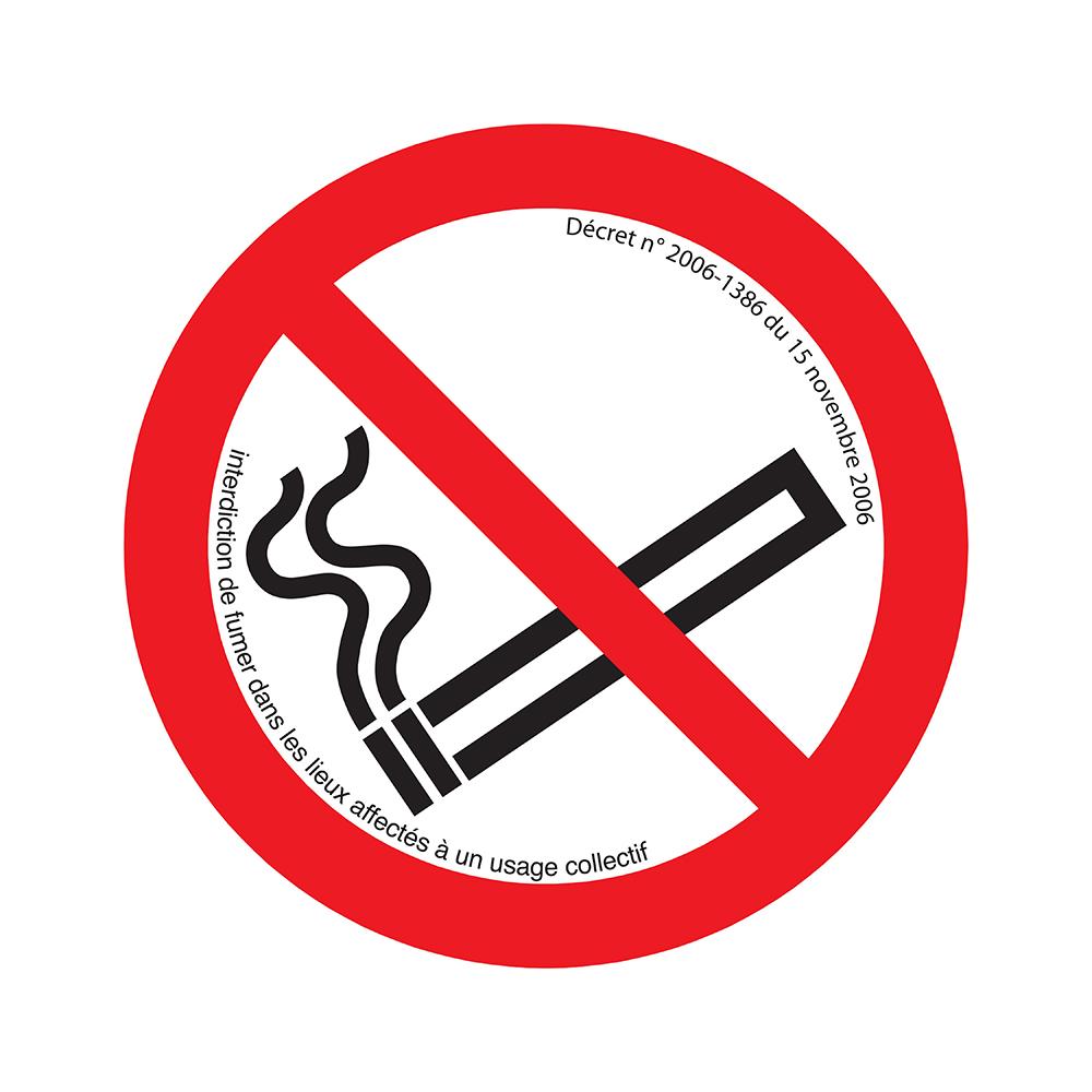 Bord rond 180 mm - Defense de fumer avec décret