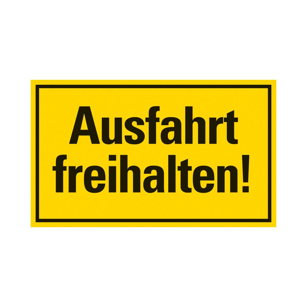 Kunststoff Schild 25 x 15 cm AUSFAHRT FREIHALTEN