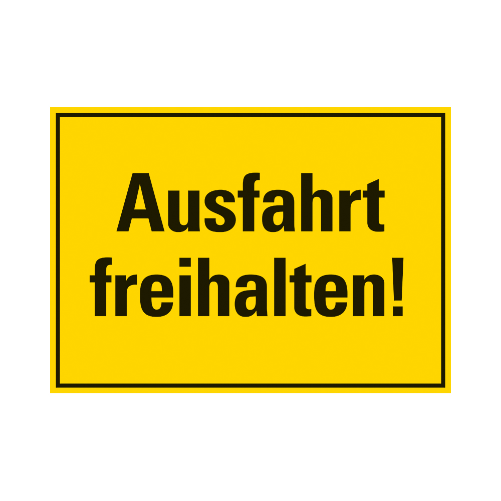 Kunststoff Schild 35 x 25 cm AUSFAHRT FREIHALTEN