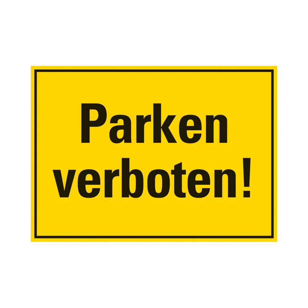 Kunststoff Schild 35 x 25 cm PARKEN VERBOTEN