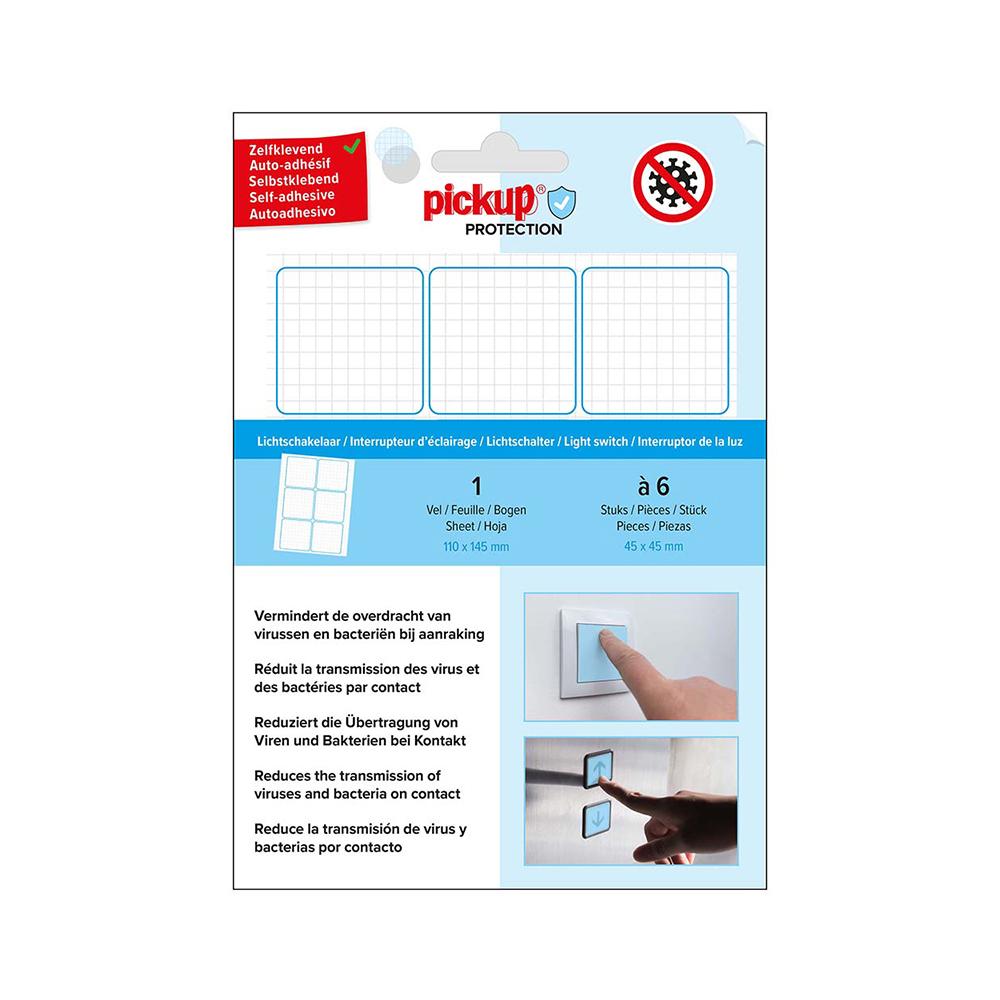 Pickup Protection Folie lichtschakelaar - 45x45 mm - 6 stuks - zelfklevend - sticker