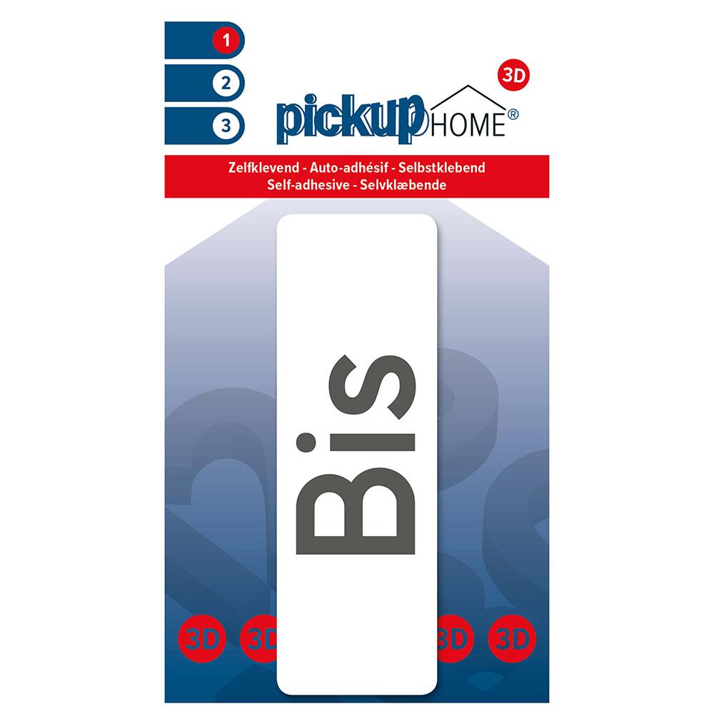 3D Home Bis wit - zelfklevend