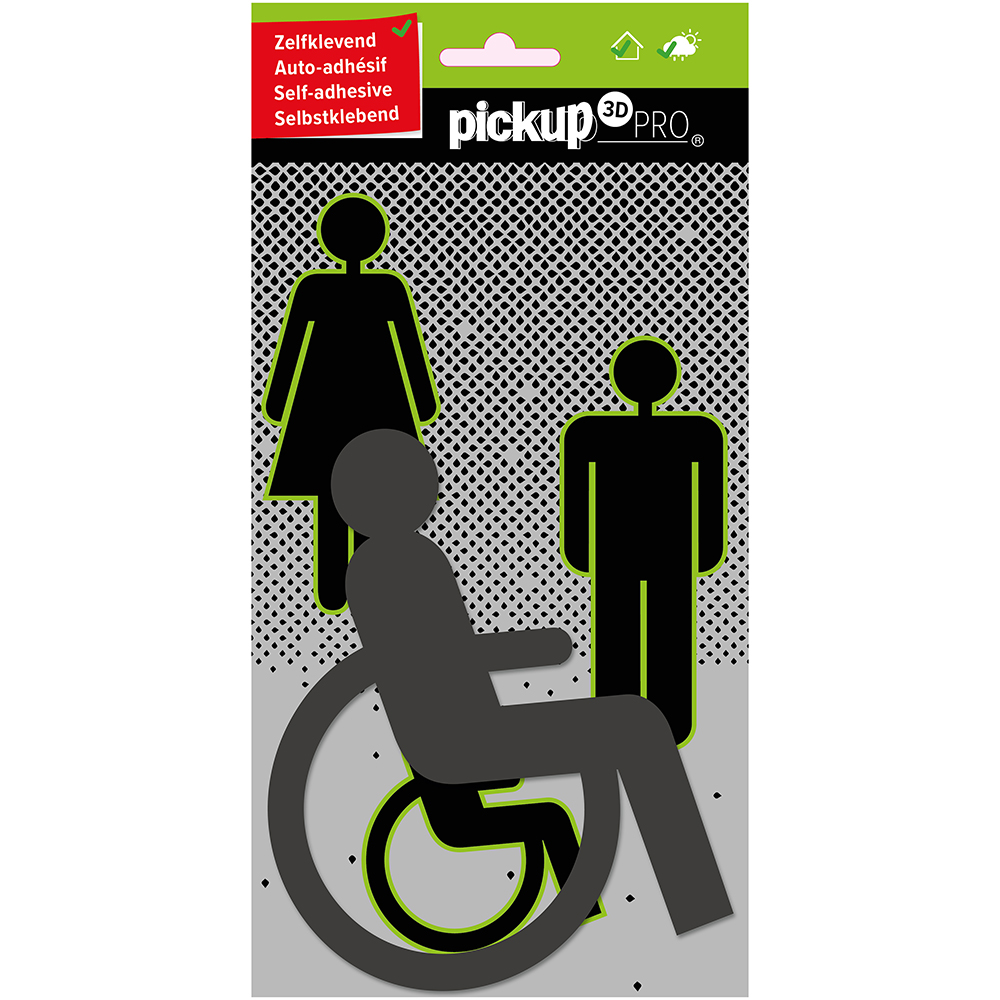 Pickup Route Acryl Pro Picto 3D Rolstoel grijs - 2120000104