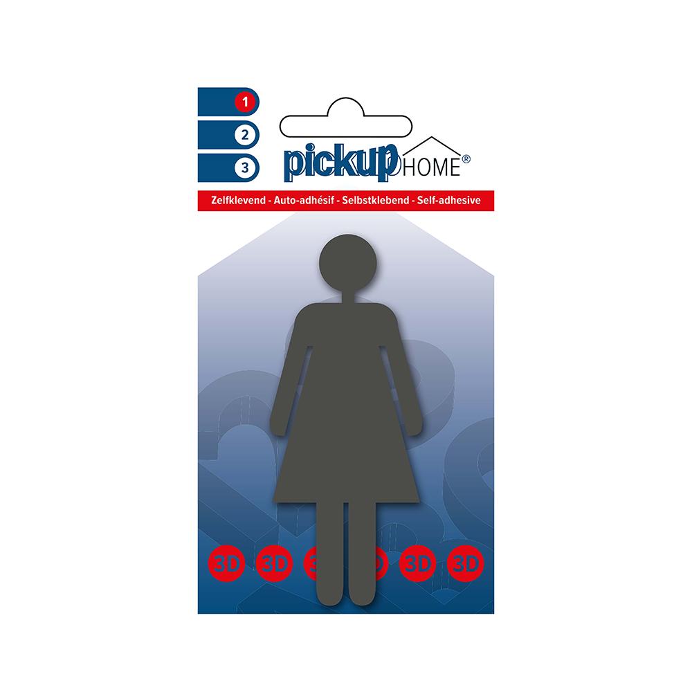 3D Home Picto zelfklevend vrouw grijs - 212100001