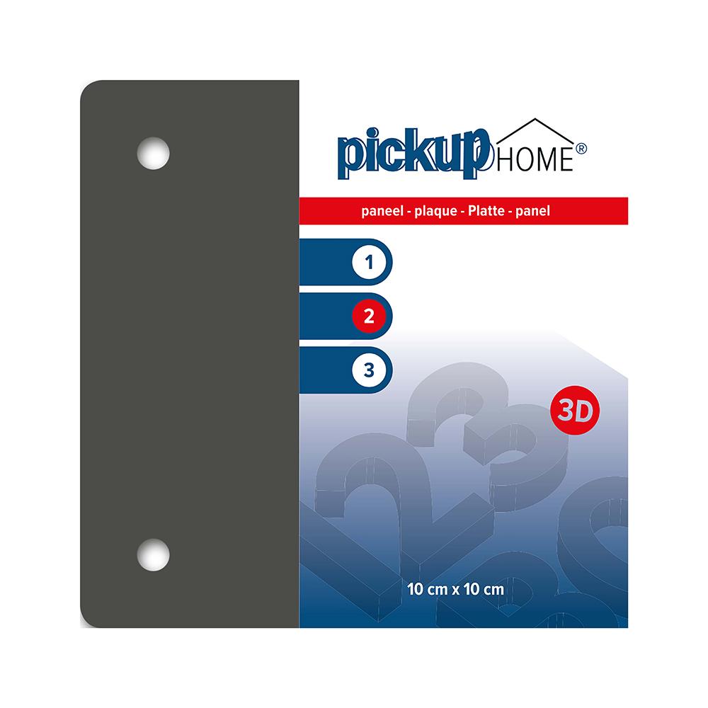Pickup 3D Home plaat grijs acrylaat 3 mm - 10x10 cm