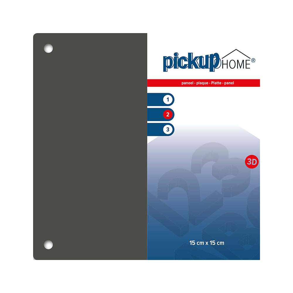 Pickup 3D Home plaat grijs acrylaat 3 mm - 15x15 cm