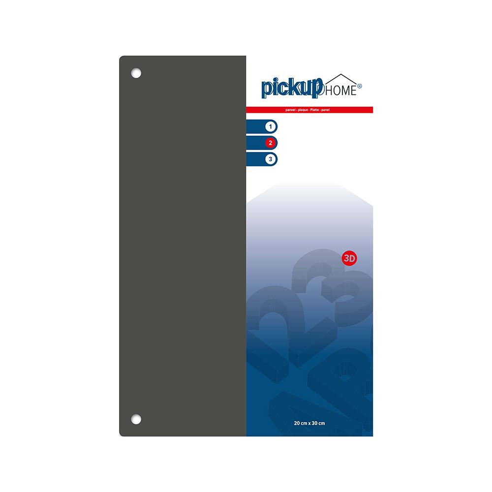 Pickup 3D Home plaat grijs acrylaat 3 mm - 30x20 cm