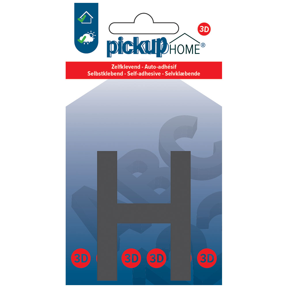 Pickup 3D Home Lima 60 mm grijs H - zelfklevend