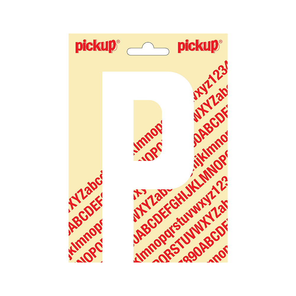 Plakletter Nobel 150mm wit P - 31012150P