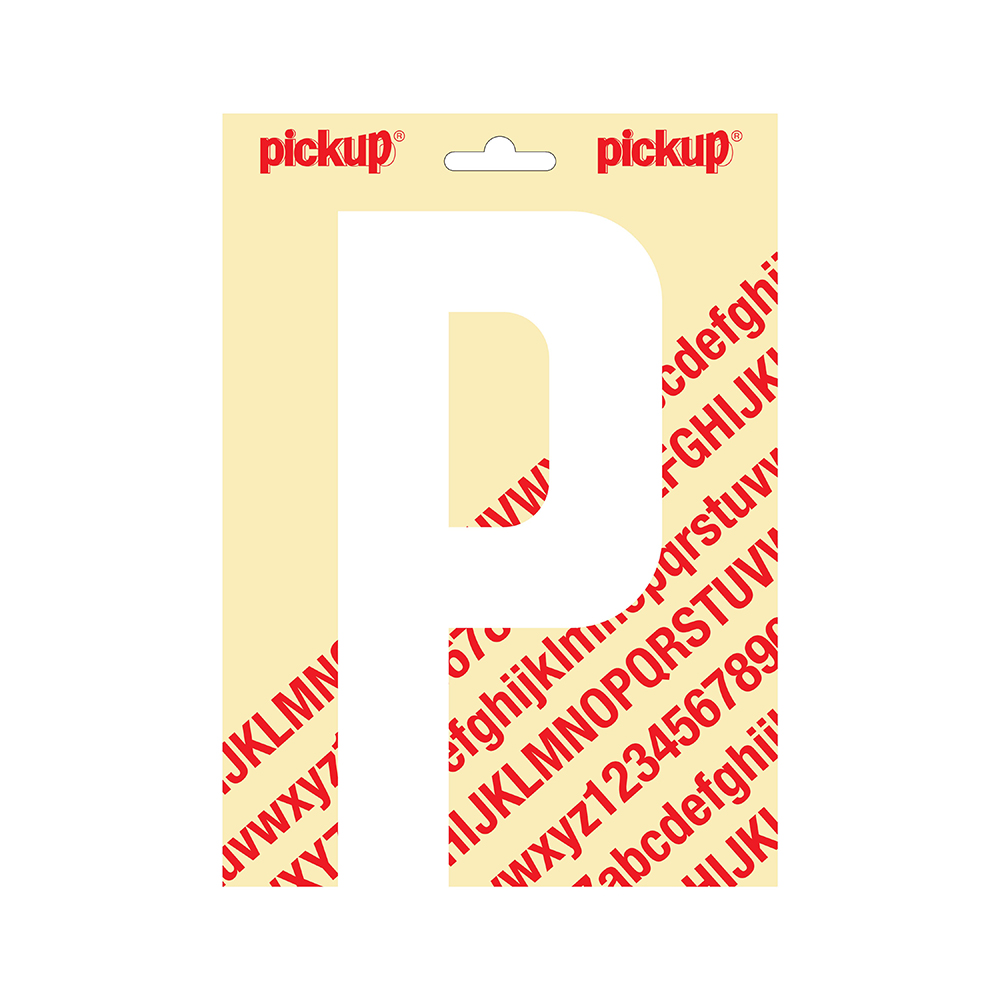Pickup plakletter Nobel 200mm wit P - 31012200P