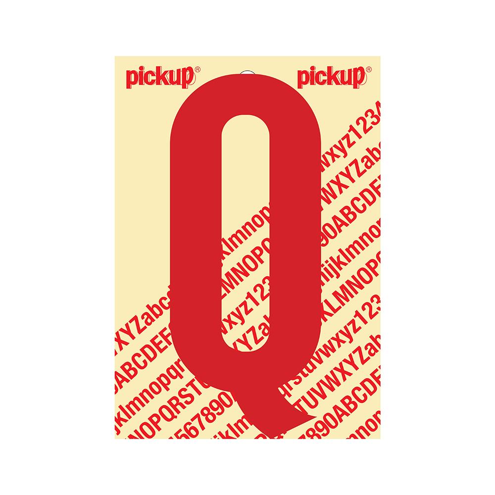 Pickup plakletter Nobel 150mm rood Q - 31022150Q