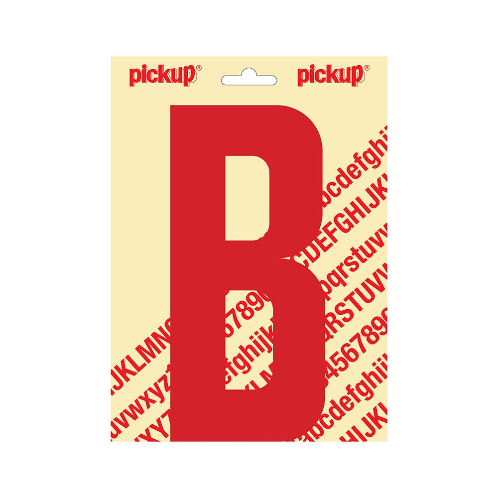 Pickup plakletter Nobel 200mm rood B - 31022200B