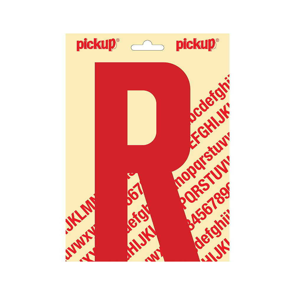 Pickup plakletter Nobel 200mm rood R - 31022200R