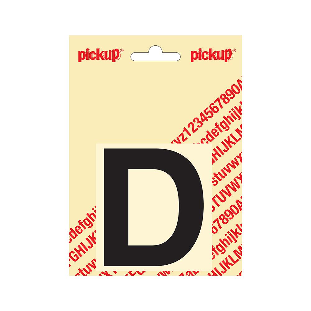 Pickup plakletter Helvetica 80 mm - zwart D