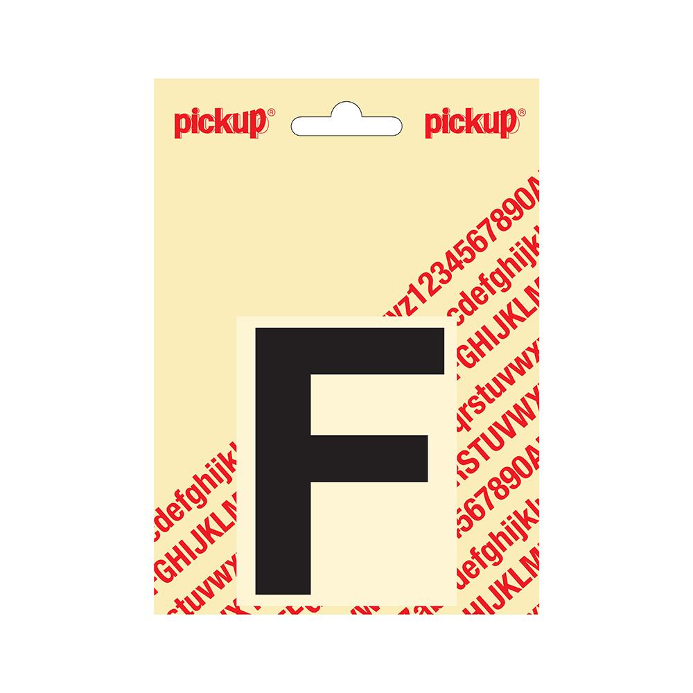 Plakletter Helvetica 80 mm - zwart F