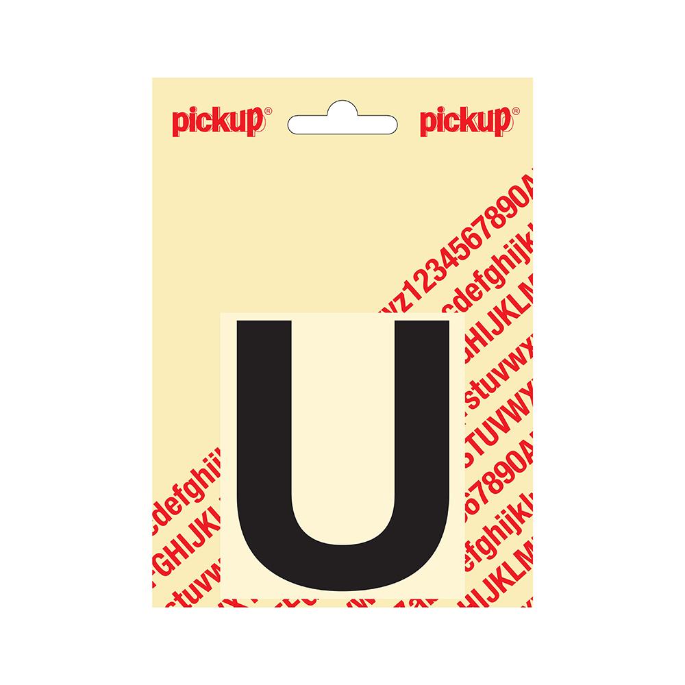 Pickup plakletter Helvetica 80 mm - zwart U