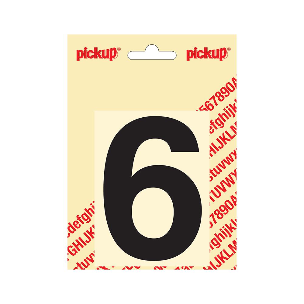 Pickup plakcijfer Helvetica 100 mm - zwart 6