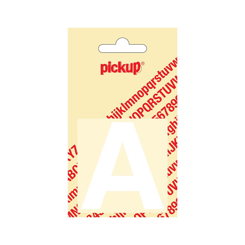 Pickup plakletter Helvetica 60 mm - wit A
