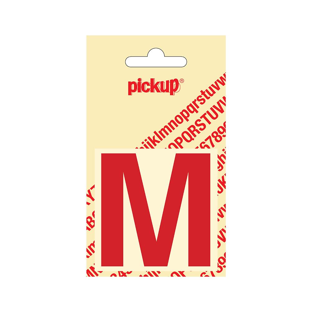 Pickup plakletter Helvetica 60 mm - rood M