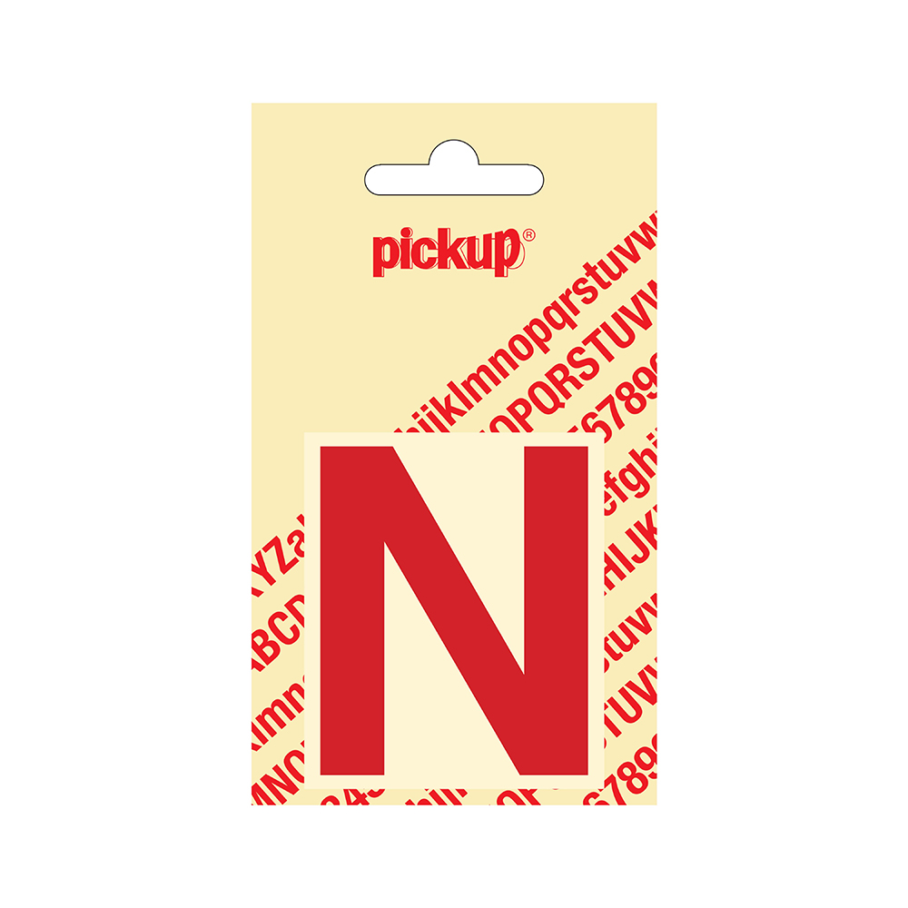 Plakletter Helvetica 60 mm - rood N