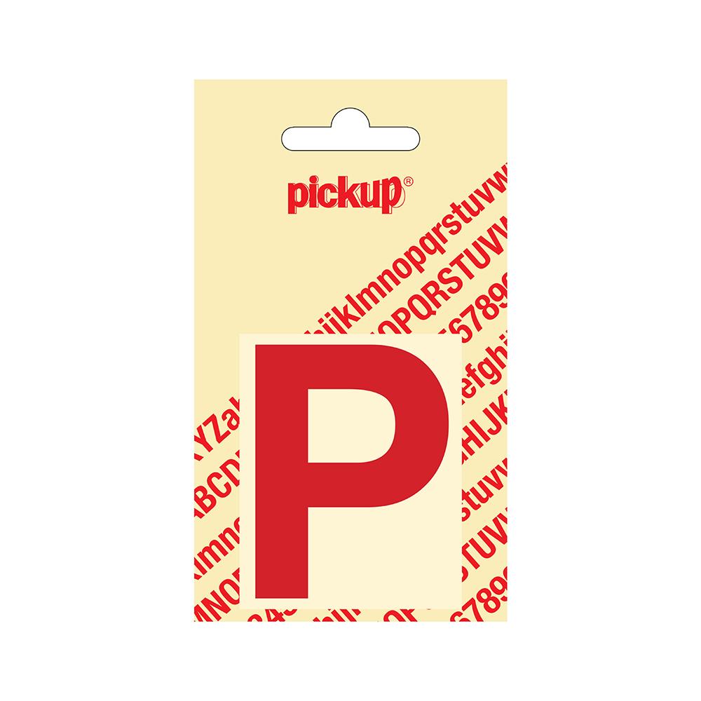 Pickup plakletter Helvetica 60 mm - rood P