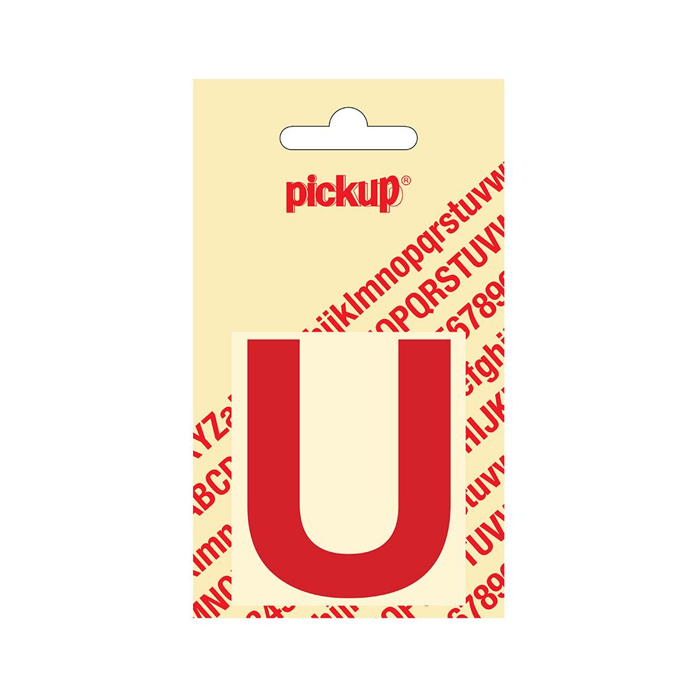 Plakletter Helvetica 60 mm - rood U