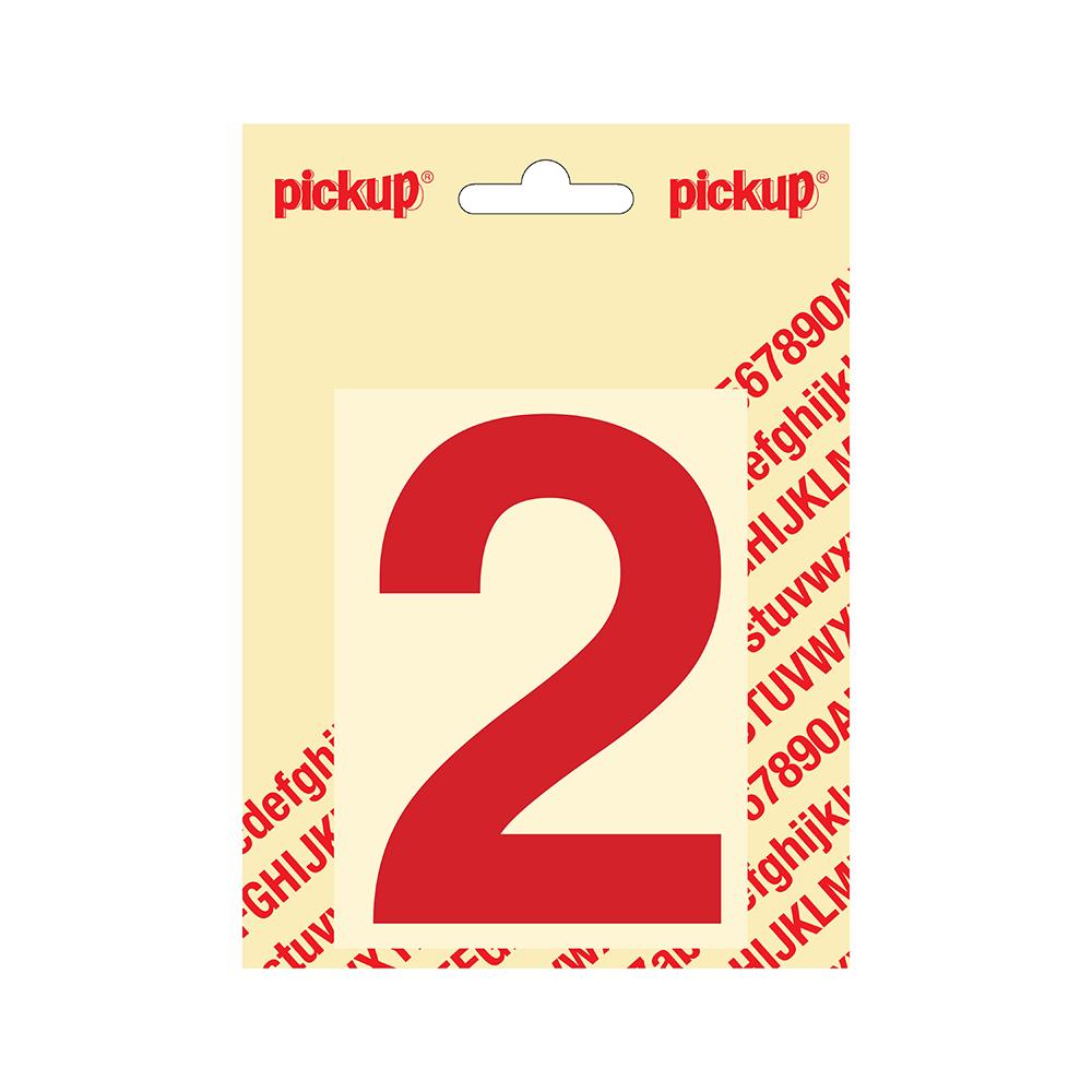 Plakcijfer Helvetica 100 mm - rood 2