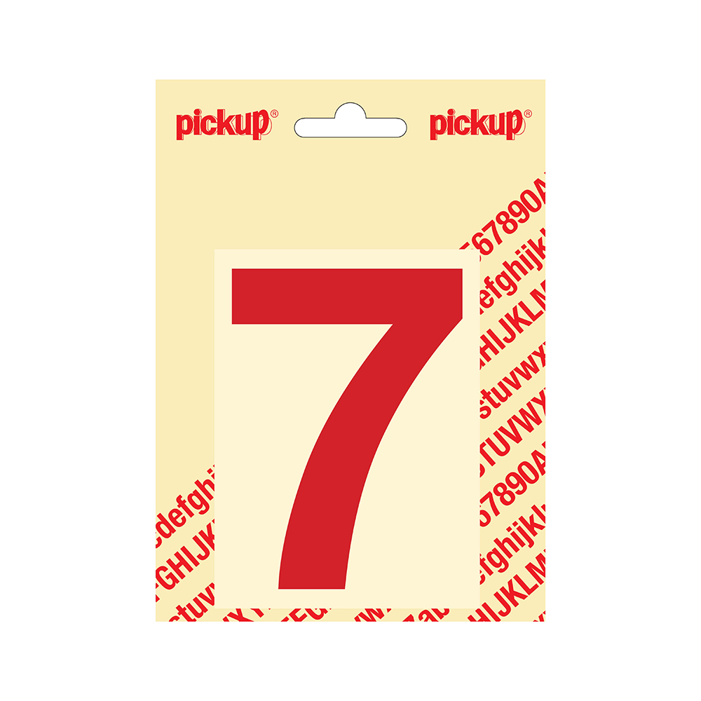 Plakcijfer Helvetica 100 mm - rood 7