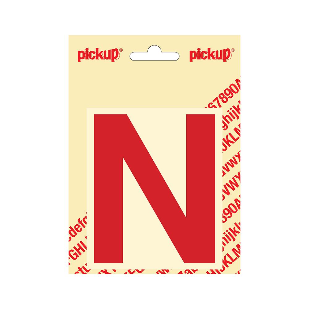 Pickup plakletter Helvetica 100 mm - rood N