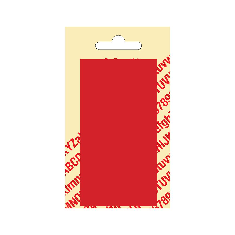 Kunststof blanco blanko plaatje - rood 10,5 x 5,5 cm Nobel mono bordje