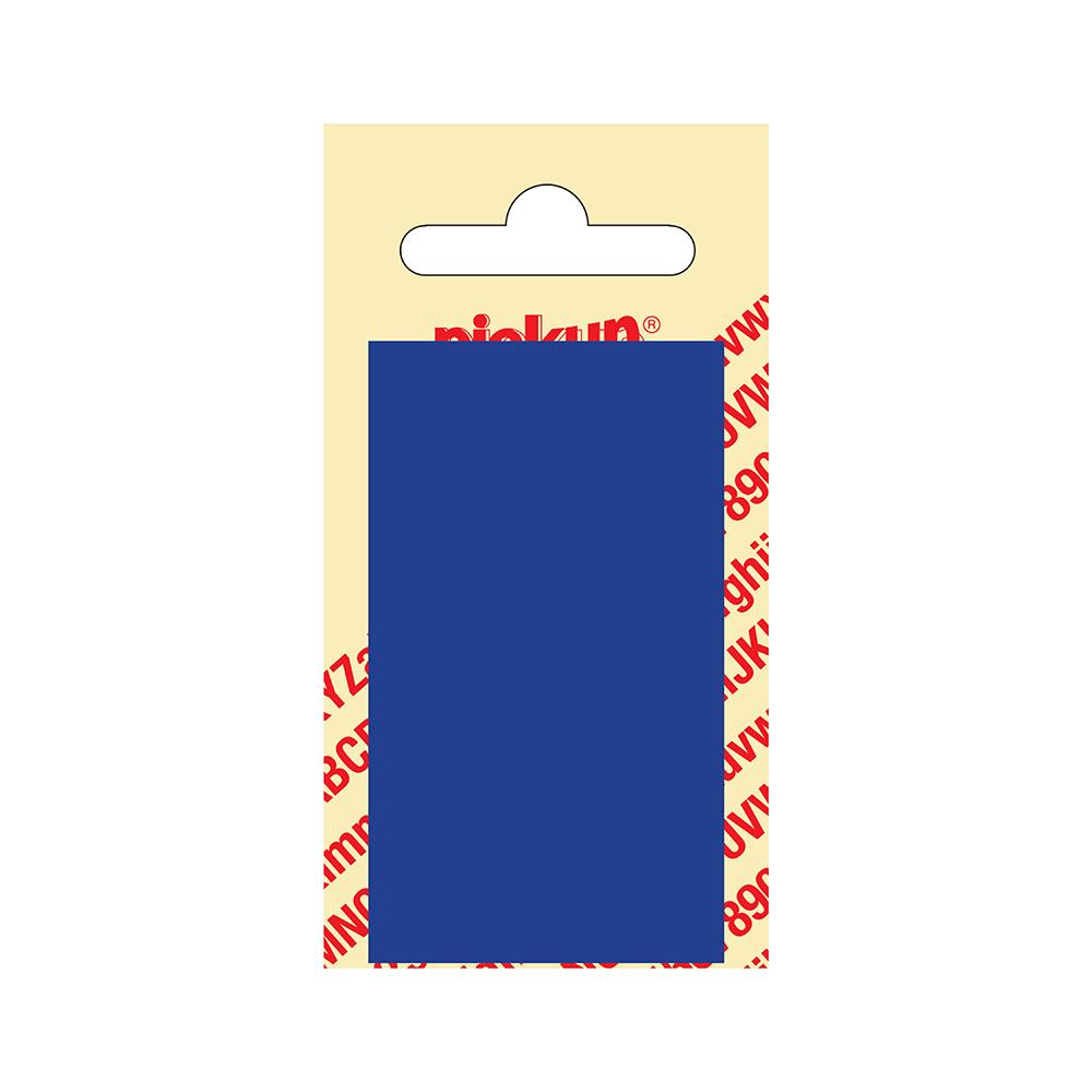 Kunststof blanco blanko plaatje - blauw 7 x 4 cm Nobel mono bordje
