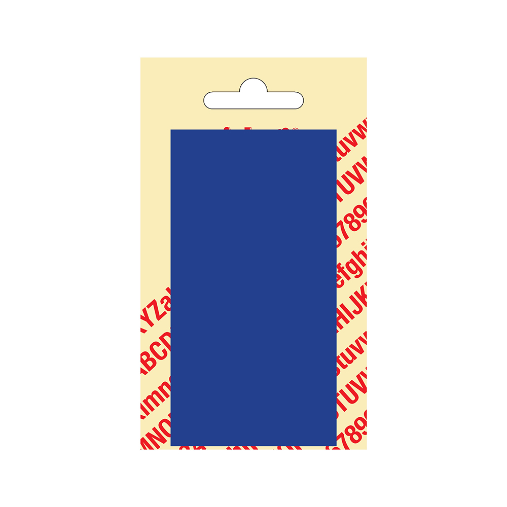 Kunststof blanco blanko plaatje - blauw 10,5 x 5,5 cm Nobel mono bordje