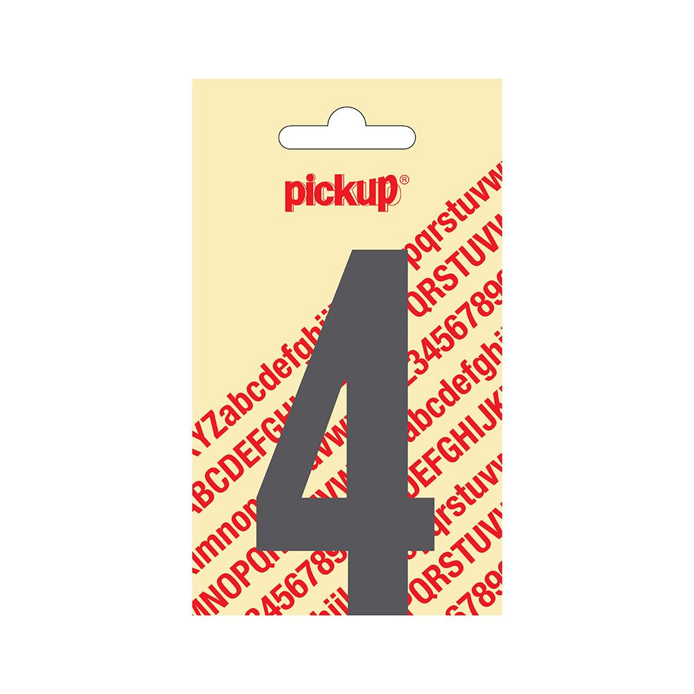Pickup plakcijfer Nobel Grijs - 90 mm 4