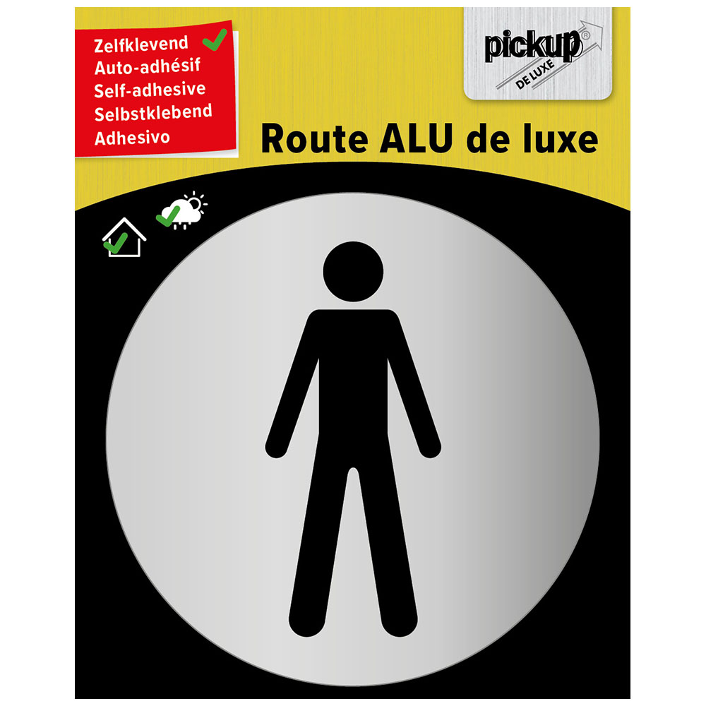 Route rond brushed alu heer - picto rond 80 mm
