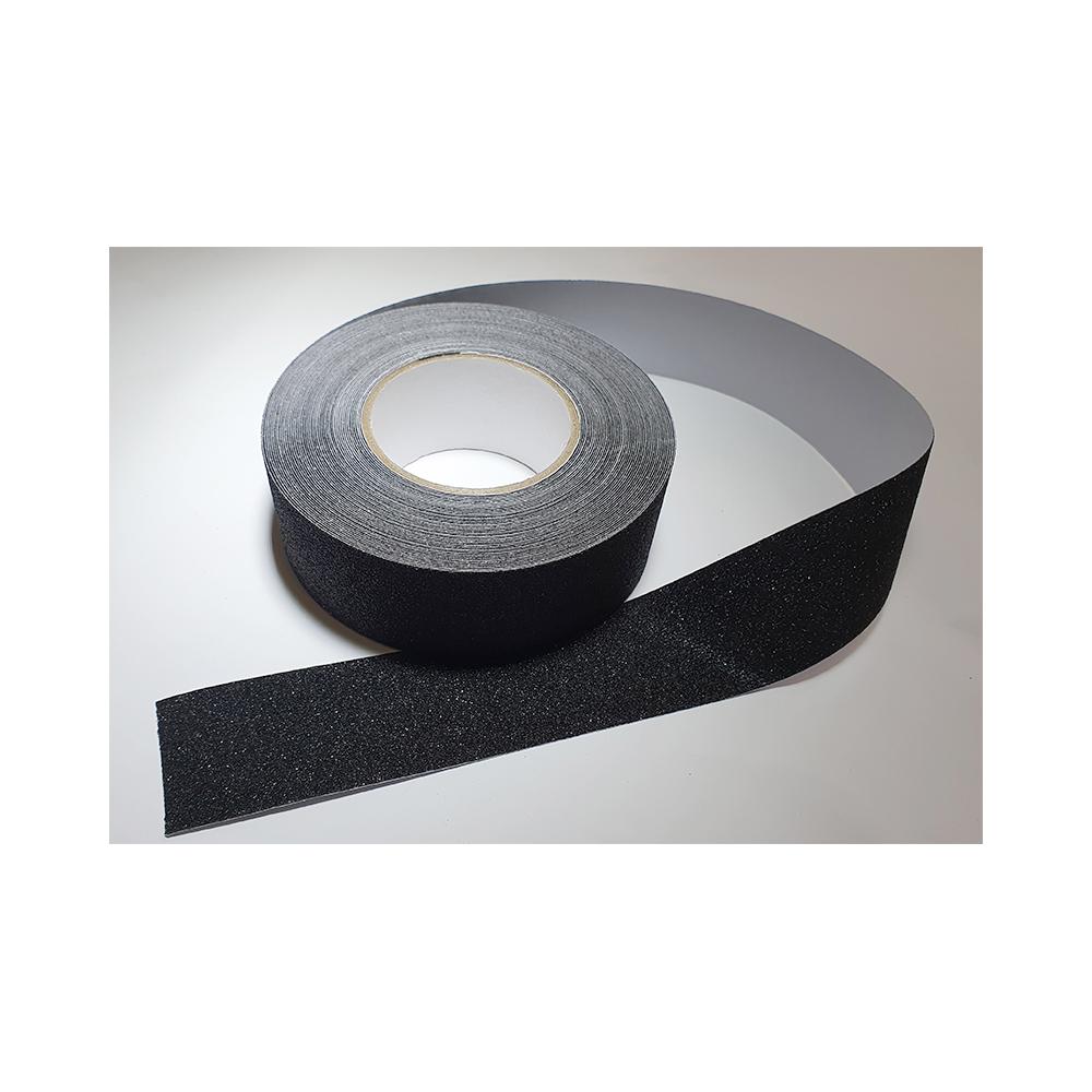 Antislip vloertape zelfklevend zwart 50 mm breed - rol 18 meter