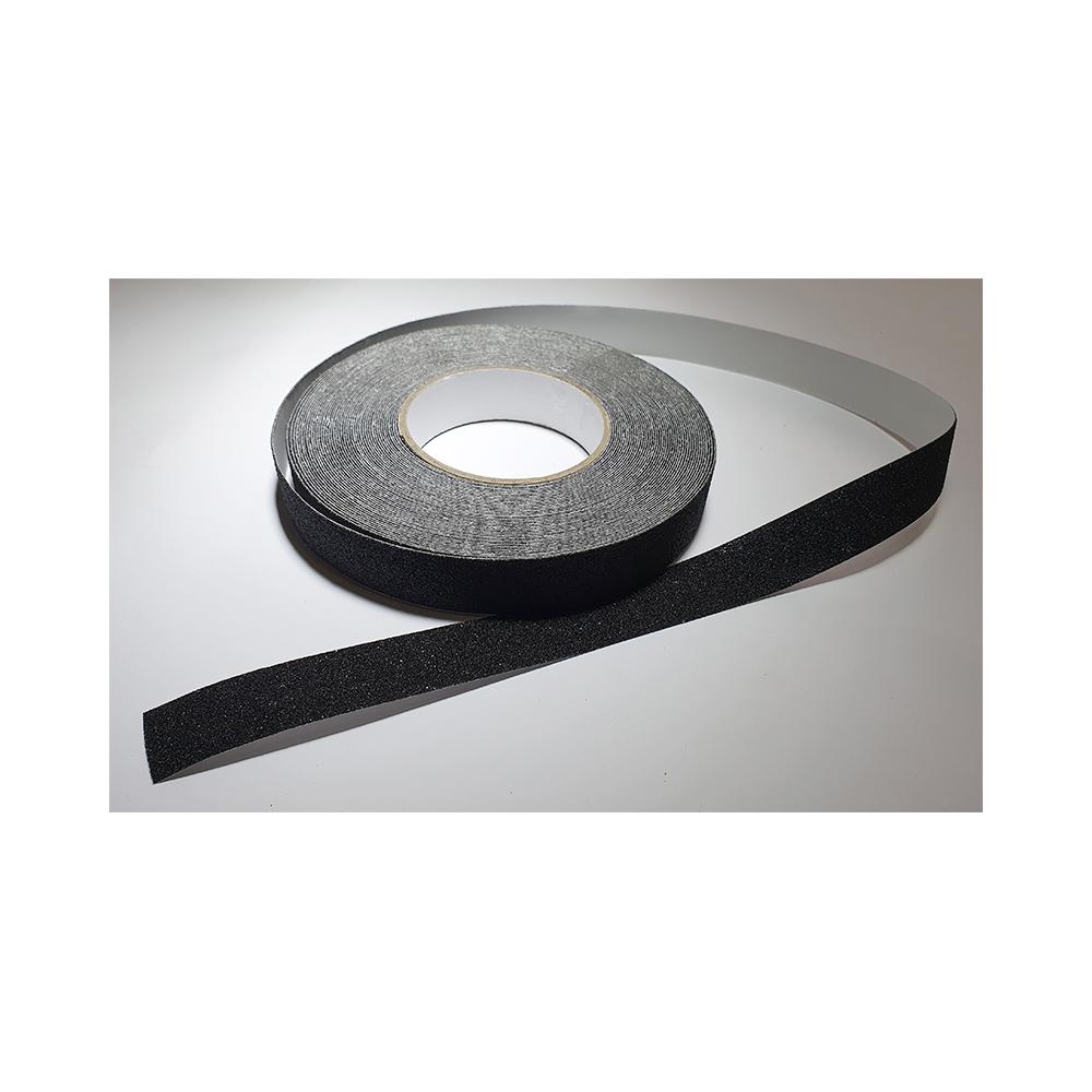 Antislip vloertape zelfklevend zwart 25 mm breed - rol 18 meter