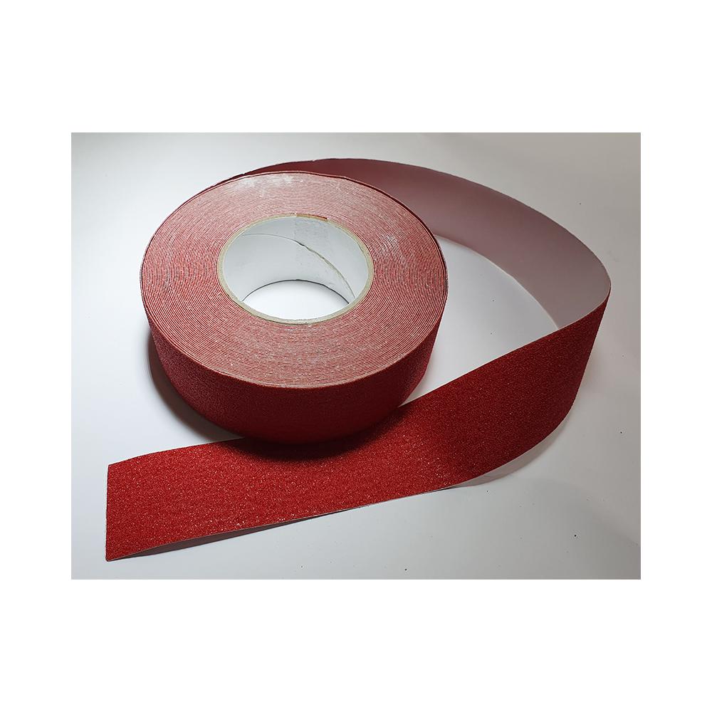 Antislip vloertape zelfklevend rood 25 mm breed - rol 18 meter