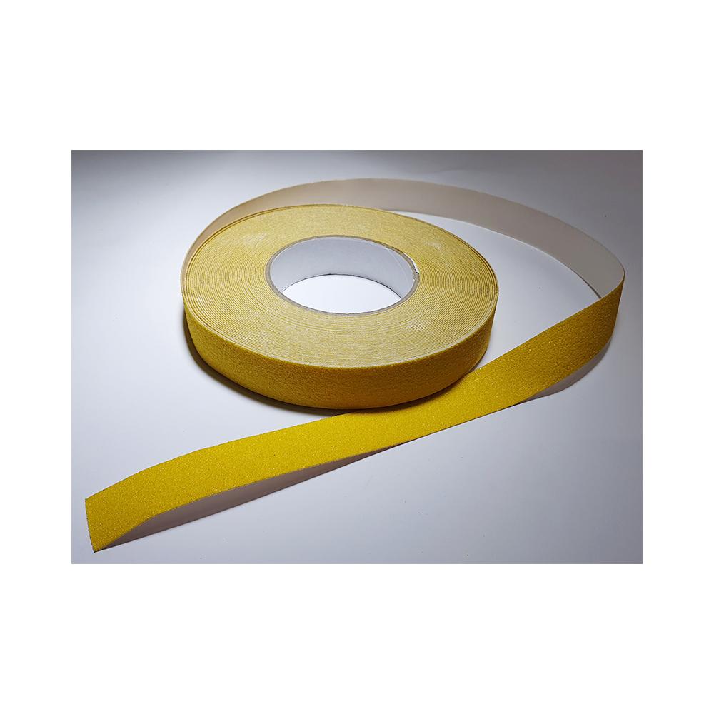 Antislip vloertape zelfklevend geel 25 mm breed - rol 18 meter