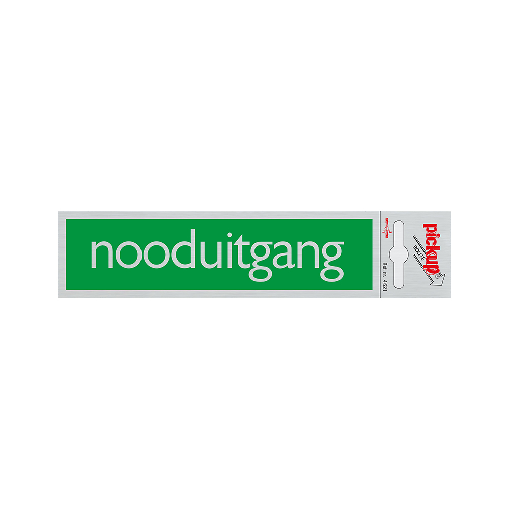 Route Alulook 165x44 mm - Nooduitgang