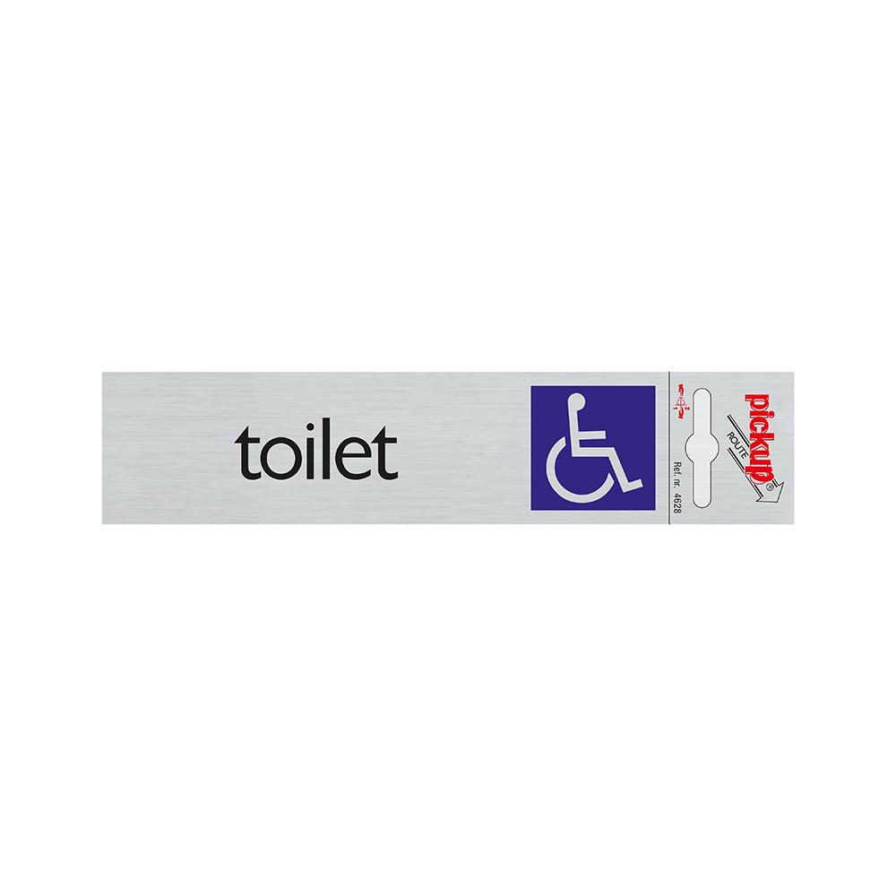 Route Alulook 165x44 mm - Toilet toeg. voor rolstoel