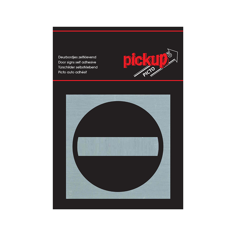 Pickup Route Alulook Alu Picto 80x80 mm - verboden toegang