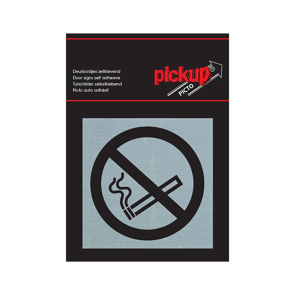 Route Alu Picto 80x80 mm - verboden te roken