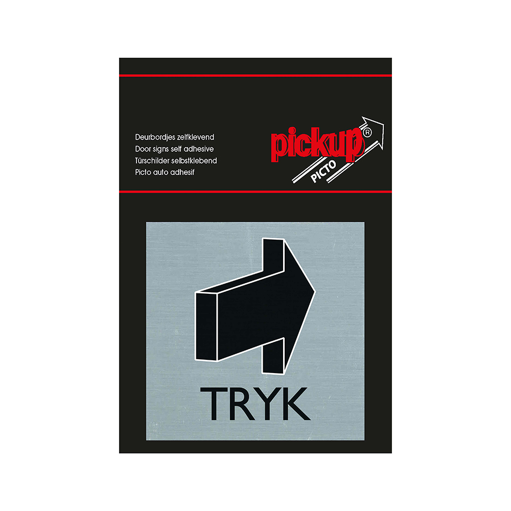 Pickup Route Alulook Alu picto 80x80 mm - TRYK