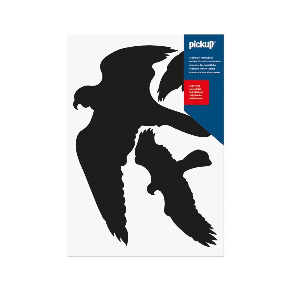 Vogels zwart - 3 stuks per vel