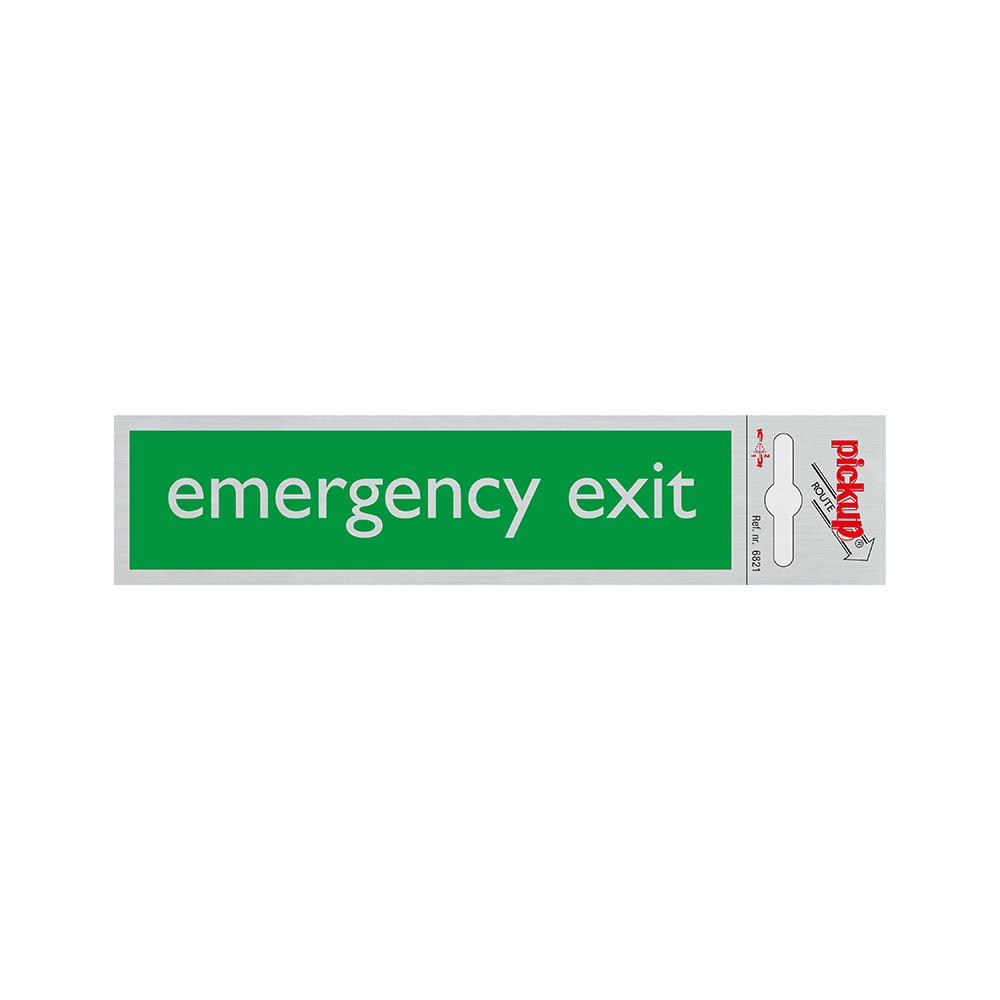 Route Alulook  165x44 mm - Emergency exit